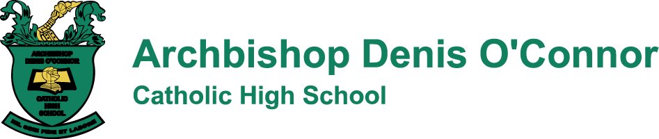 Archbishop Denis O'Connor Catholic High School logo
