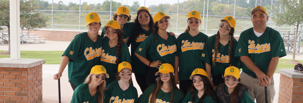 Female student baseball team